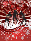 Cartel abstracto del concierto de la Navidad del vector Imagen de archivo