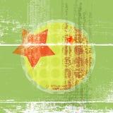 Cartel abstracto en sombras brillantes del verde con una estrella y un circ Imágenes de archivo libres de regalías