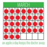 Cartel al día de la salud Imagen de archivo