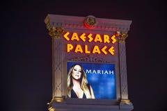 Cartel al INFINITO de Mariah Carey 'MARIAH 1' en Las Vegas Imagen de archivo libre de regalías