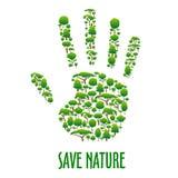 Cartel ambiental de la protección de la ecología Fotografía de archivo libre de regalías