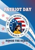 Cartel americano del día del patriota libre illustration
