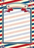 Cartel americano rayado Foto de archivo libre de regalías