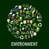 Cartel amistoso de la ecología ambiental Fotografía de archivo libre de regalías