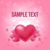 Cartel amoroso del día de tarjetas del día de San Valentín libre illustration