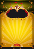 Cartel anaranjado mágico del circo. Imagen de archivo
