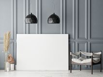 Cartel ascendente falso en fondo escandinavo de la sala de estar del inconformista libre illustration