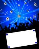 Cartel azul del partido Imágenes de archivo libres de regalías