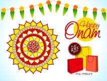 Cartel, bandera o aviador de la venta para el festival de Onam Fotos de archivo libres de regalías
