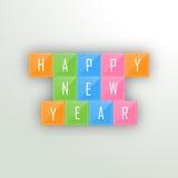 Cartel, bandera o aviador para las celebraciones de la Feliz Año Nuevo ilustración del vector