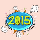 Cartel, bandera o aviador por la Feliz Año Nuevo 2015 Foto de archivo libre de regalías