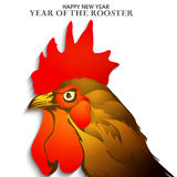 Cartel, bandera por el año de la celebración del gallo Imagenes de archivo