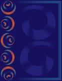 Cartel, bandera, revista, aviador, folleto, disposición de la cubierta con diseño espiral del vector de los elementos Imágenes de archivo libres de regalías