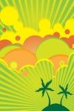 Cartel brillante del color del verano ilustración del vector