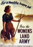 Cartel británico de la guerra - únase a al ejército de la tierra de la mujer - 1941 Imágenes de archivo libres de regalías