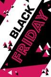 Cartel carmesí viernes negro que hace compras aviador moderno de moda del día del descuento prospecto para hacer publicidad libre illustration