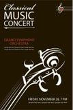 Cartel clásico del concierto Fotografía de archivo libre de regalías