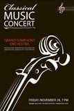 Cartel clásico del concierto Foto de archivo libre de regalías