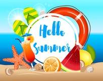 Cartel colorido del vector del verano Imágenes de archivo libres de regalías
