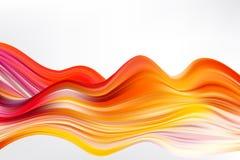 Cartel colorido moderno del flujo Fondo l?quido del color de la forma de la onda stock de ilustración