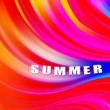 Cartel colorido moderno del flujo Fondo l?quido del color de la forma de la onda Dise?o del arte para su proyecto de dise?o Ilust stock de ilustración