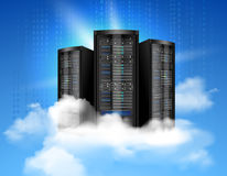 Cartel computacional de la nube Fotografía de archivo libre de regalías