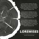 Cartel con diseño de los anillos de árbol ilustración del vector