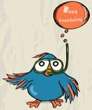 Cartel con el pájaro divertido. libre illustration