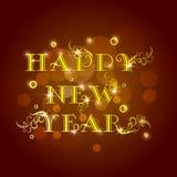 Cartel con el texto brillante para la celebración 2015 de la Feliz Año Nuevo Fotos de archivo
