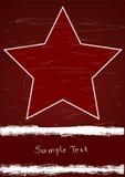 Cartel con la estrella roja ilustración del vector