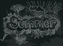 Cartel con verano Imagen de archivo