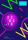 Cartel creativo abstracto del diseño con la pendiente colorida flúida Cubierta futurista de la plantilla Ejemplo plano EPS 10 del Fotografía de archivo