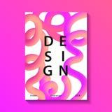 Cartel creativo del diseño Imagen de archivo