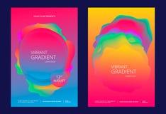 Cartel creativo del diseño con pendientes vibrantes stock de ilustración