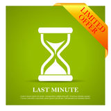 Cartel de última hora de la oferta Fotos de archivo libres de regalías