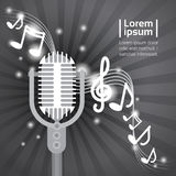 Cartel de Art Style Modern Musical Concert del estallido de Live Music Microphone Banner Colorful ilustración del vector