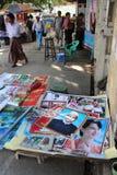 Cartel de Aung San y de Aung San Suu Kyi Imagenes de archivo