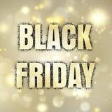 Cartel de Black Friday Vector del EPS 10 Foto de archivo
