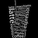 Cartel de Coffe Foto de archivo