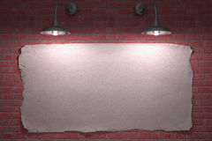 Cartel de dos lámparas Imagen de archivo