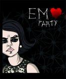 Cartel de EMO Party Fotos de archivo