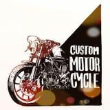 Cartel de encargo de la motocicleta Imagen de archivo libre de regalías