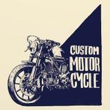Cartel de encargo de la motocicleta fotografía de archivo libre de regalías