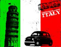 Cartel de Grunge Italia Imagenes de archivo