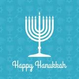 Cartel de Jánuca o tarjeta de felicitación feliz con el menorah libre illustration