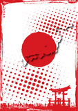 Cartel de Japón Foto de archivo