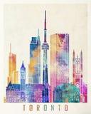 Cartel de la acuarela de las señales de Toronto Fotos de archivo