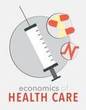 Cartel de la atención sanitaria Foto de archivo