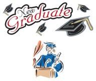 Cartel de la bandera de la graduación Imagen de archivo libre de regalías