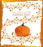 Cartel de la calabaza de Víspera de Todos los Santos Foto de archivo libre de regalías